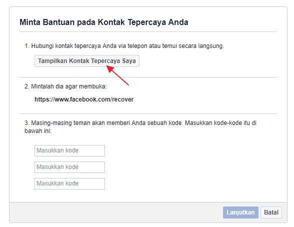 cara cek password fb