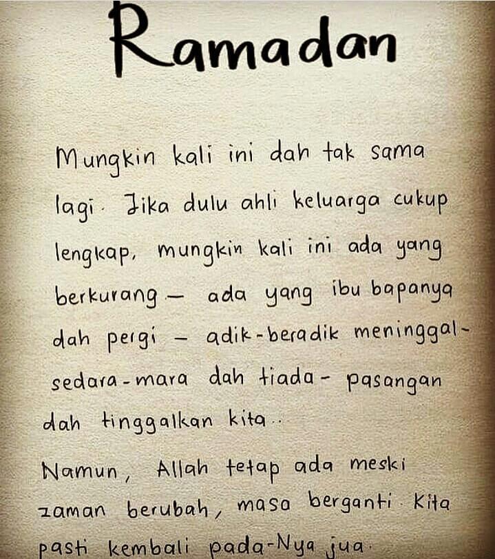 kata kata rindu bulan ramadhan 2019