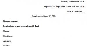 Contoh Surat Izin Sekolah Archives Fahmifebi