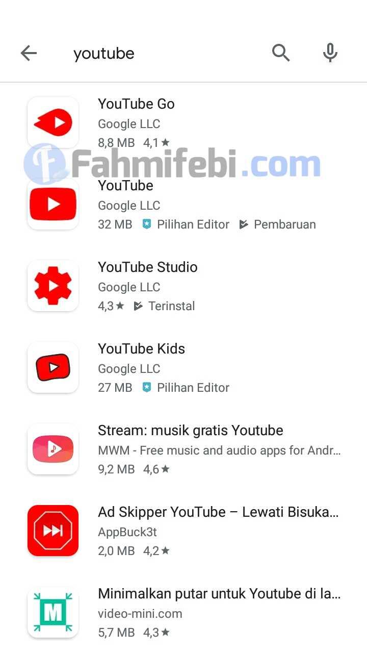 cara memperbarui aplikasi youtube