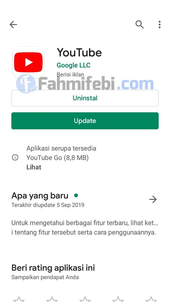 cara update youtube