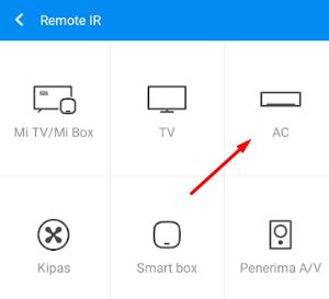 cara menggunakan mi remote untuk ac