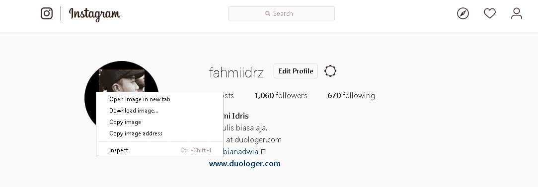 cara download foto profil instagram