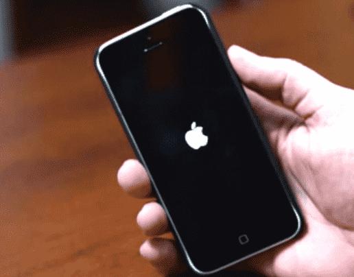 iphone kedap kedip logo apple