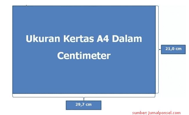ukuran kertas a4 dalam centimeter