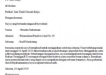 Contoh Surat Izin Dari Rt Rw Archives Fahmifebi