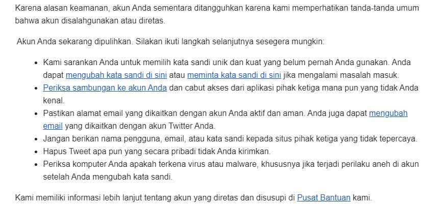 akun twitter terkunci